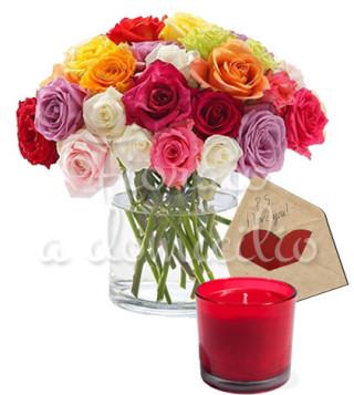 rose-miste-con-candela-e-bigliettino